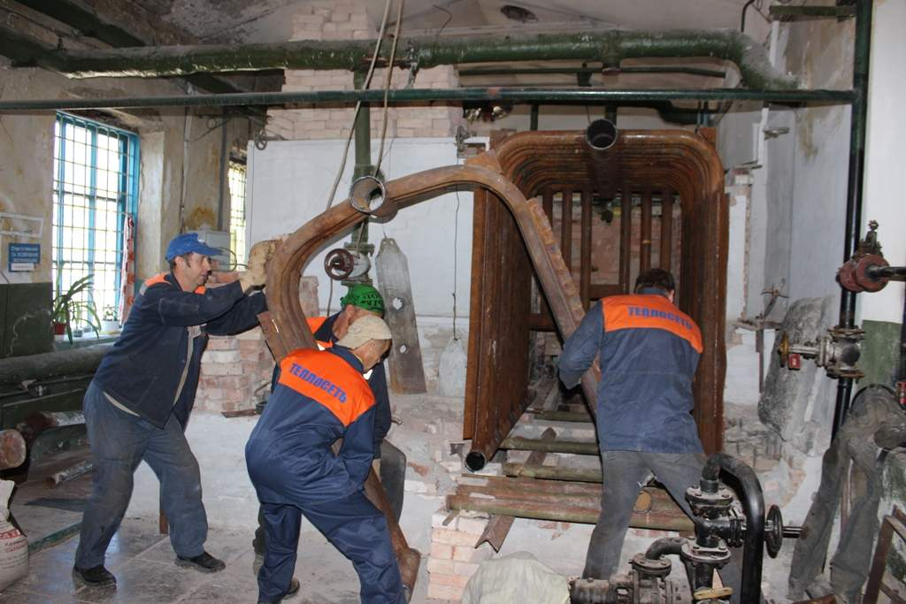 На котельной по ул. Руднева, 6 выполняется капитальный ремонт котла