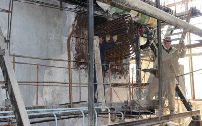 На котельной «Муссон» начался капитальный ремонт водогрейного котла