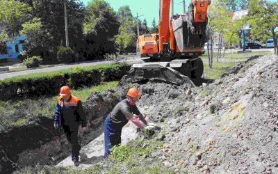ГУПС «Севтеплоэнерго» восстанавливает резервную теплотрассу в гагаринском районе
