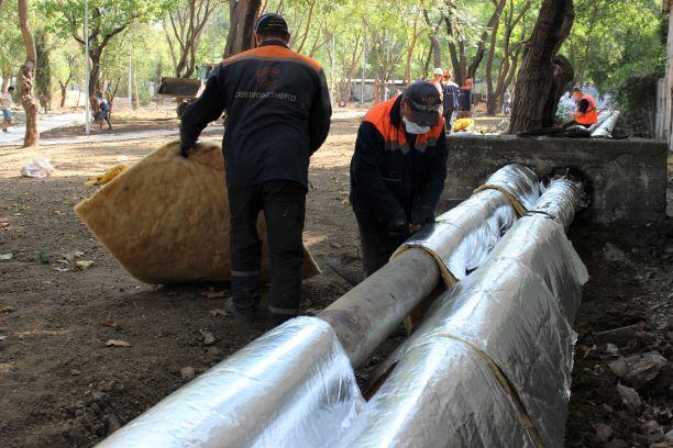 Более 200 метров тепловой изоляции восстановлено в парке им. 60-летия СССР