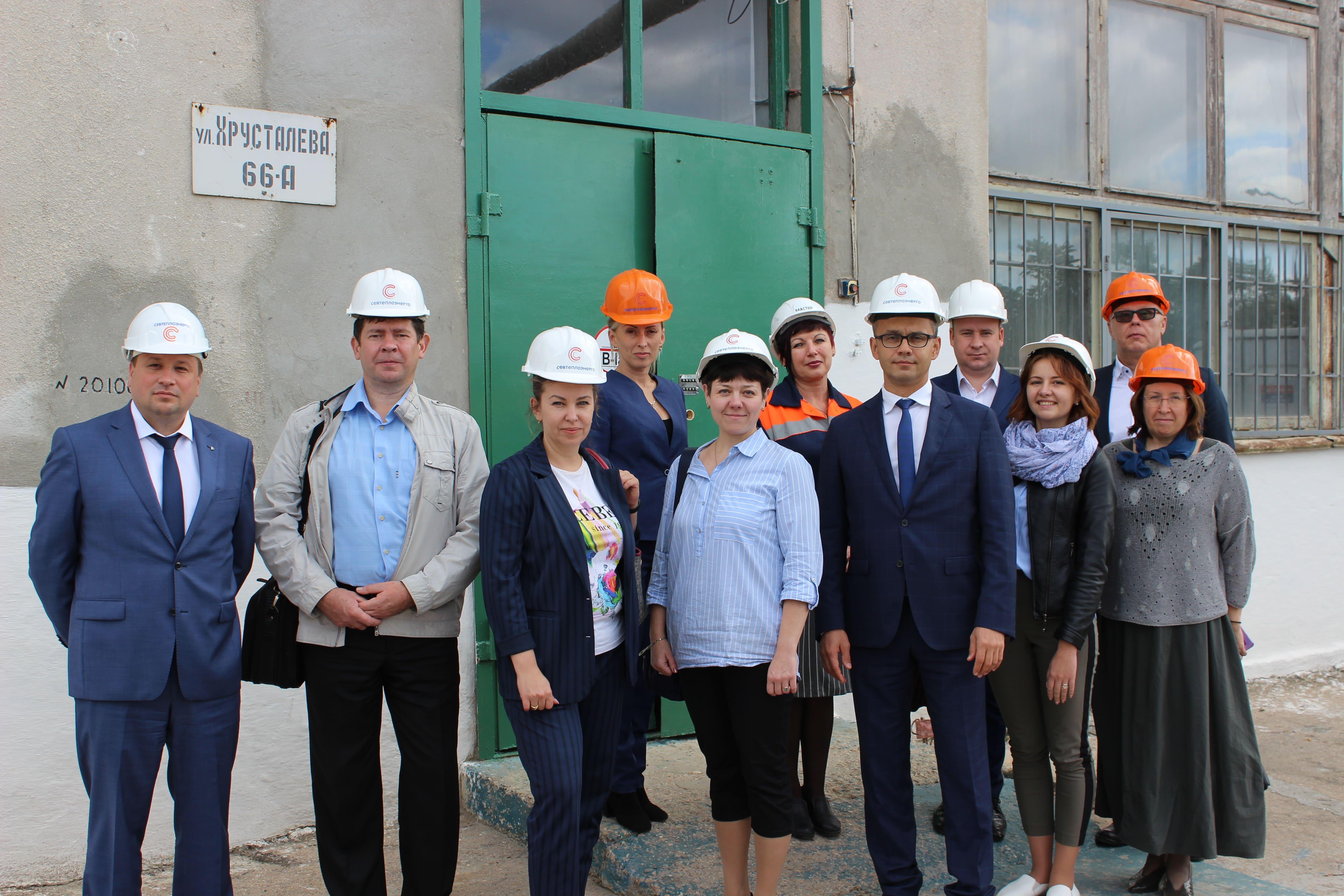 Новосибирская делегация представителей ЖКХ познакомилась с работой «Севтеплоэнерго»