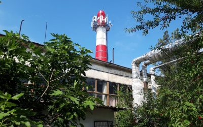 «Севтеплоэнерго» продолжает ремонтировать дымовые трубы на крупных котельных