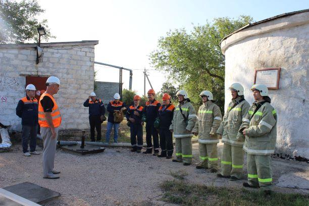 В ГУПС «Севтеплоэнерго» потушили условный пожар