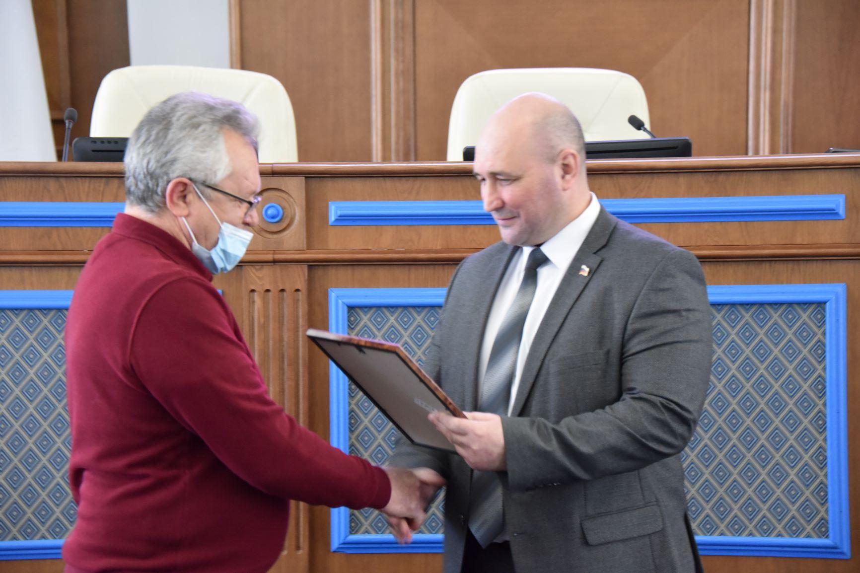 Благодарность от Председателя Законодательного Собрания города Севастополя