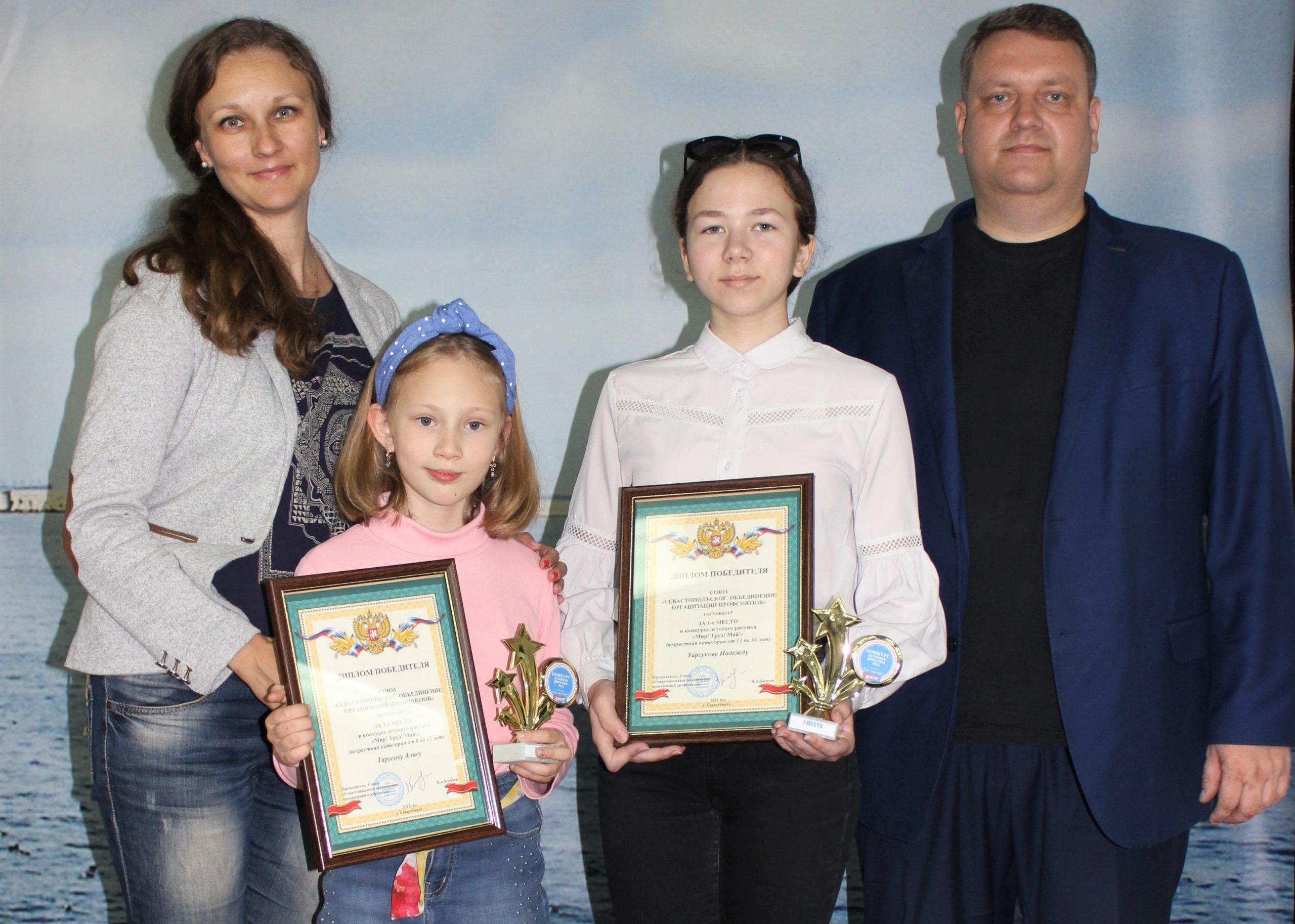 Дети сотрудников «Севтеплоэнерго» заняли призовые места в конкурсе рисунка «МИР! ТРУД! МАЙ!»