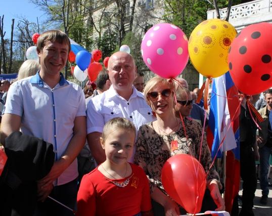 Коллектив «Севтеплоэнерго» принял участие в первомайской демонстрации