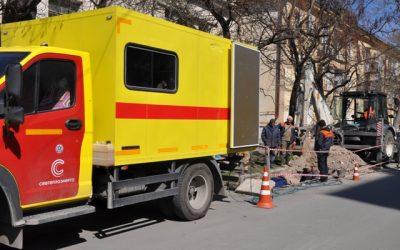 В результате порыва теплотрассы на ул. Генерала Петрова силами «Cевтеплоэнерго» заменено 85 метров трубы
