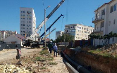 Завершены строительно-монтажные работы по выносу участка теплотрассы в районе школы-коллегиум